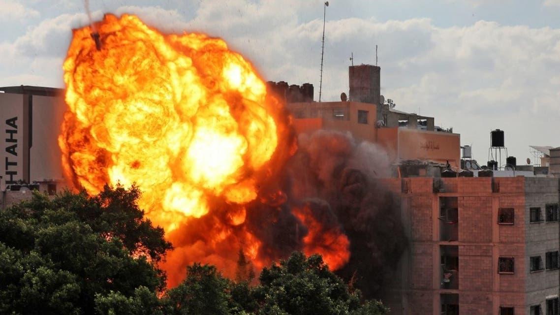 من القصف الإسرائيلي على قطاع غزة - فرانس برس