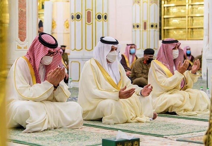 صلاة العيد في المسجد النبوي