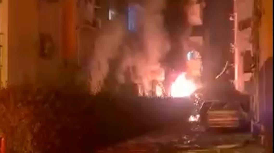 حريق بيتح تكفا جنوب تل أبيب