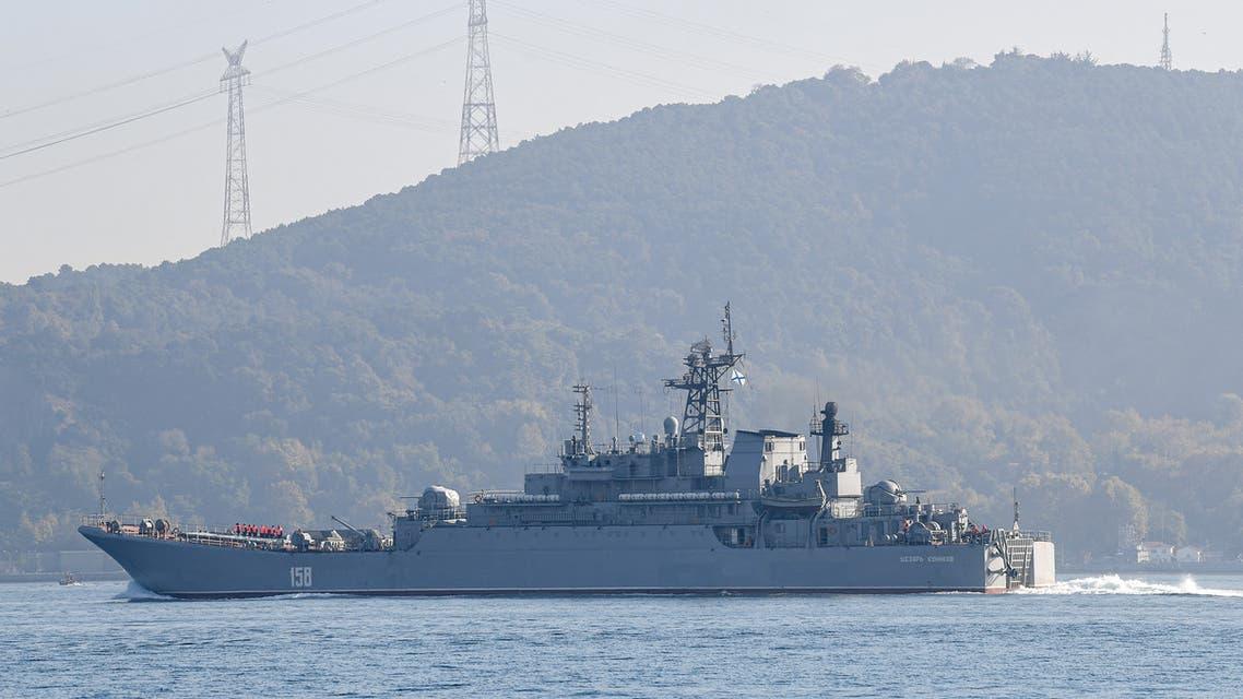 سفين روسية في ميناء طرطوس (فرانس برس)