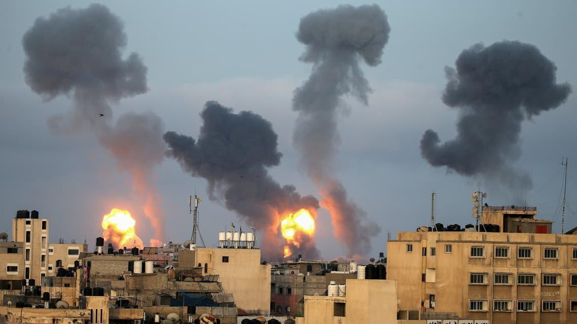 من القصف الإسرائيلي على غزة - رويترز