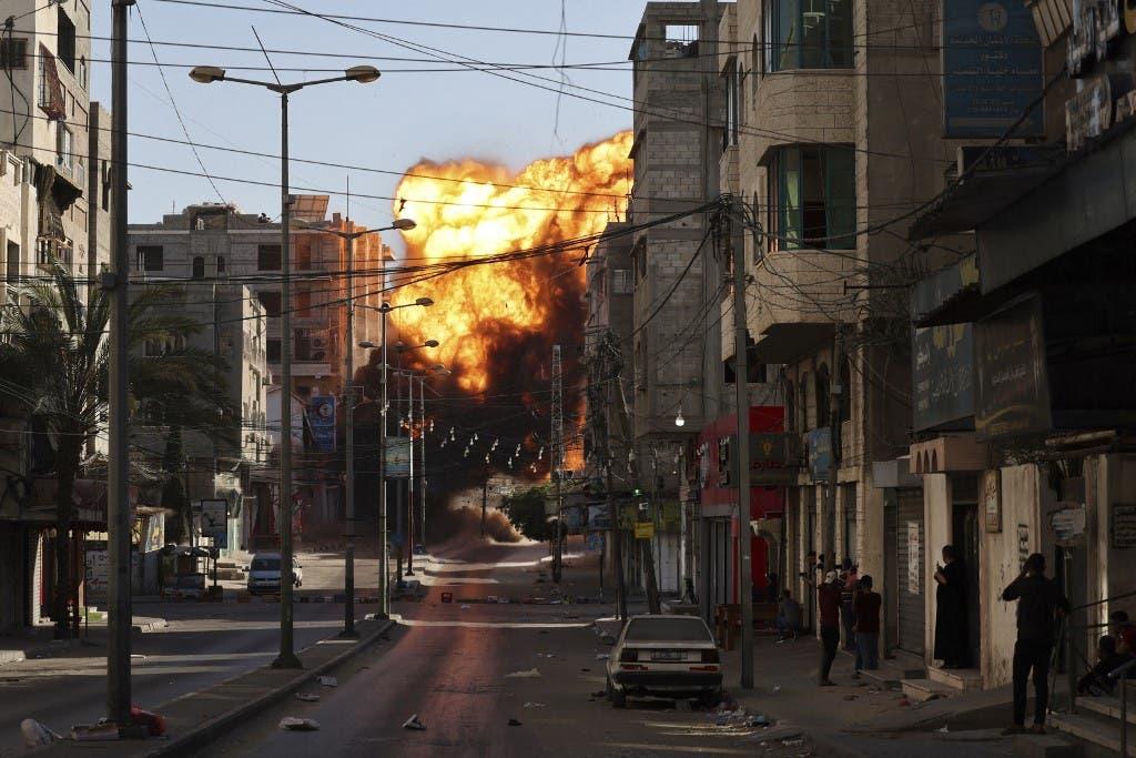 من القصف الإسرائيلي على غزة 14 مايو 2021 - فرانس برس