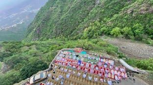 مصور مصلى العيد المعلق فوق جبال بالسعودية: فيفا تسكنني
