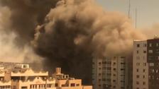اسرائیل  نے غزہ میں میڈیا دفاتر پرمشتمل ایک اور کثیر منزلہ عمارت تباہ کردی