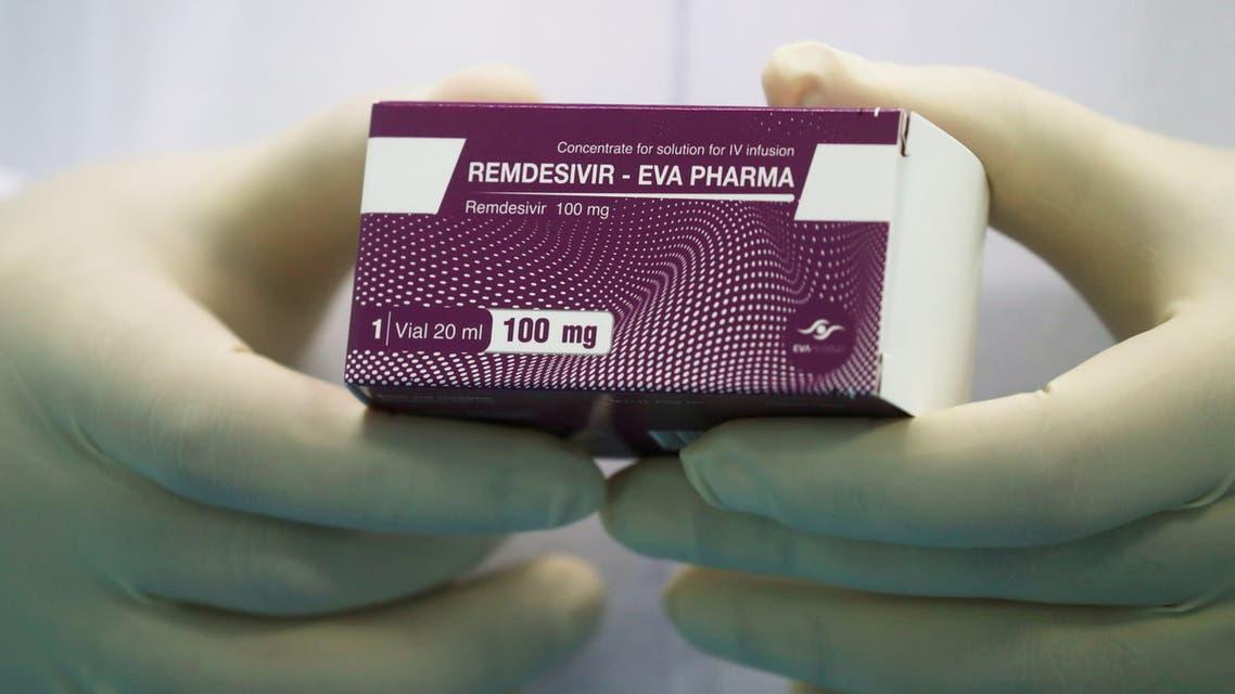 A lab technician holds the coronavirus disease (COVID-19) treatment drug Remdesivir at Eva Pharma Facility in Cairo, Egypt June 25, 2020. (File photo: Reuters)