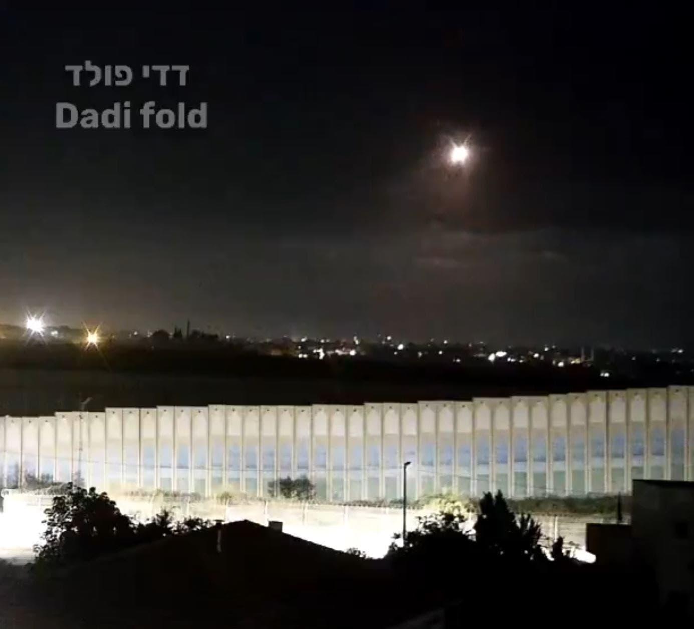 لحظه شلیک موشک از نوار غزه به اسرائیل