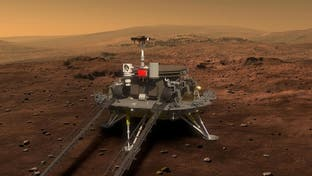 شاهد كيف هبطت المركبة الصينية على سطح المريخ