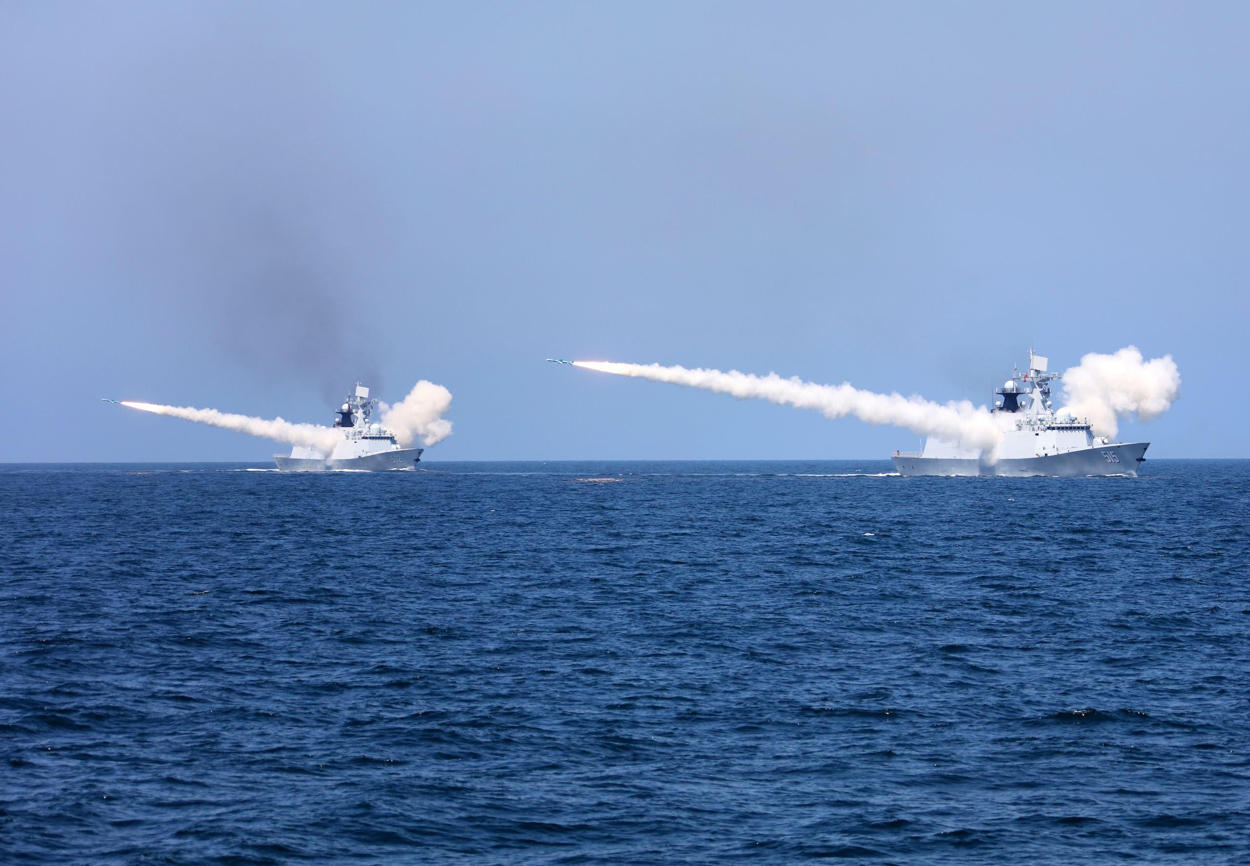 سفن حربية صينية (رويترز)