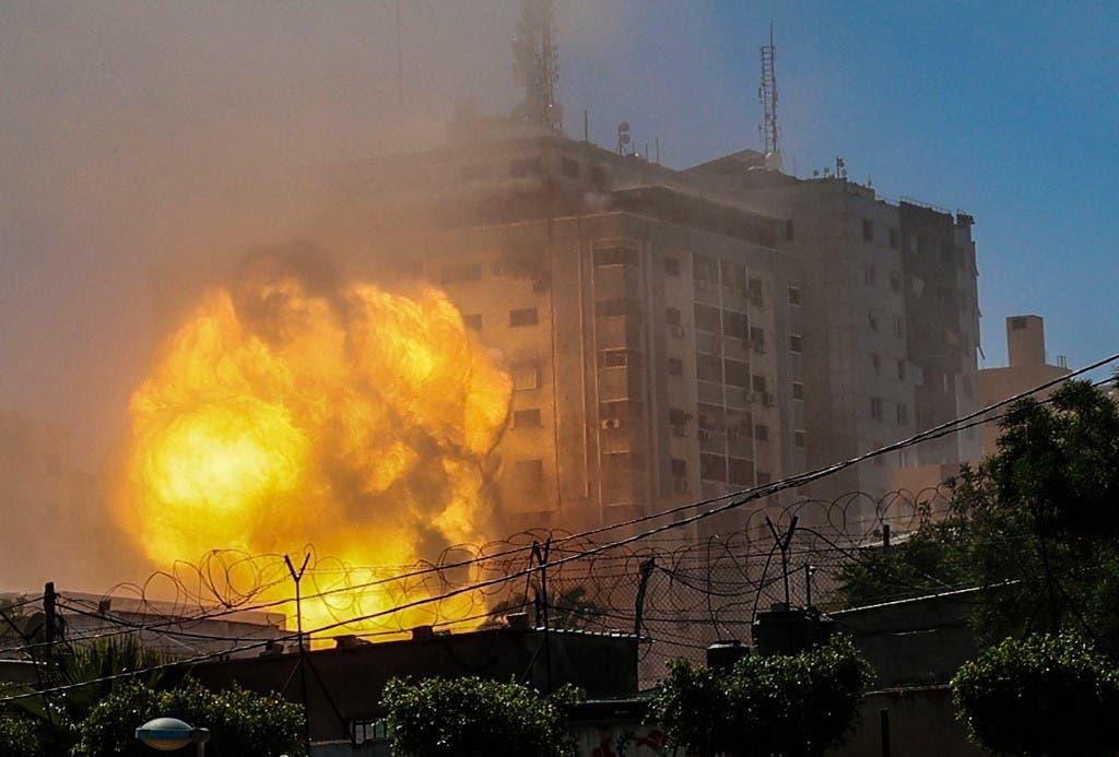 من القصف الإسرائيلي على غزة - فرانس برس 15 مايو 2021