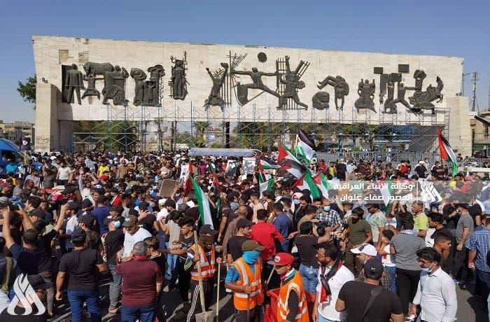 صور نشرتها وكالة الأنباء العراقية من التظاهرات