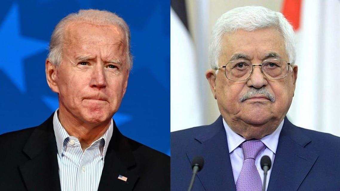 الرئيس الفلسطيني محمود عباس وجو بايدن