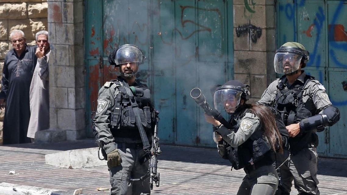 من الاشتباكات بين الجيش الإسرائيلي والفلسطينيين في الضفة - فرانس برس