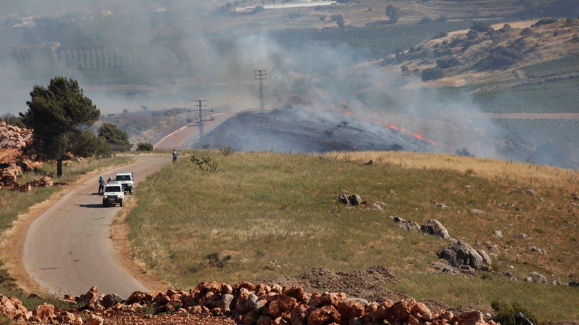 من الحدود اللبنانية الإسرائيلية (أسوشييتد برس)