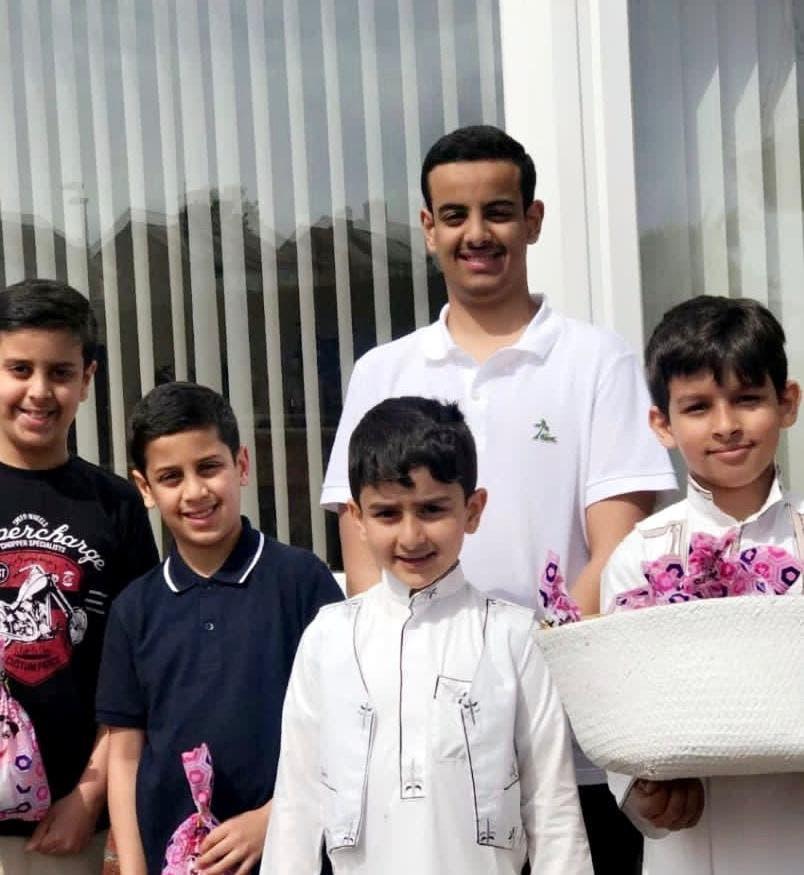 احتفال السعوديين في بريطانيا