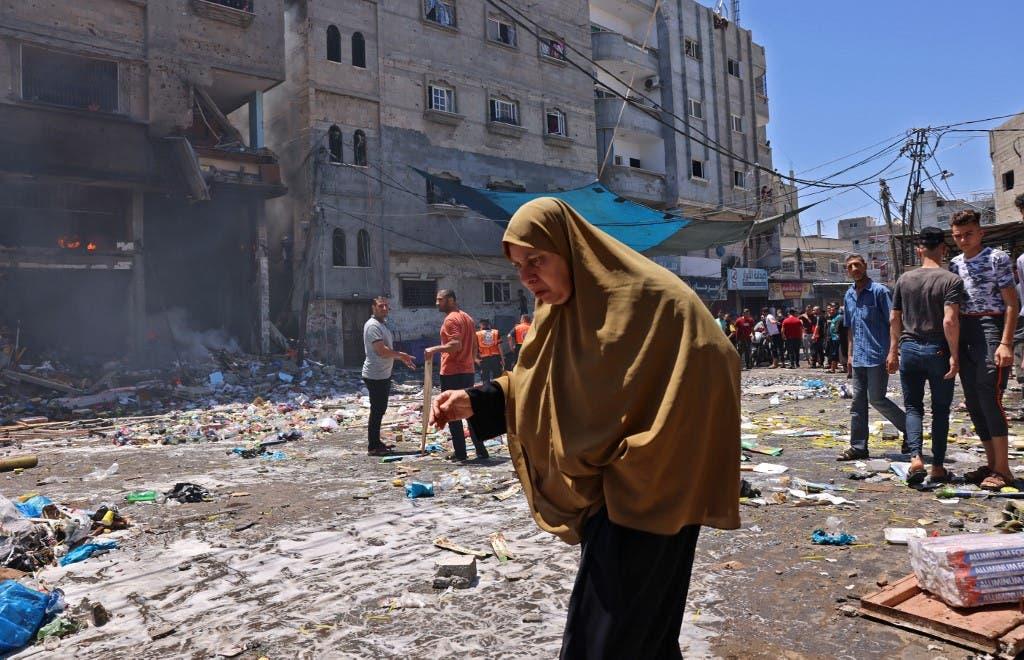 Desde el bombardeo israelí de Gaza el 15 de mayo de 2021 - France Press