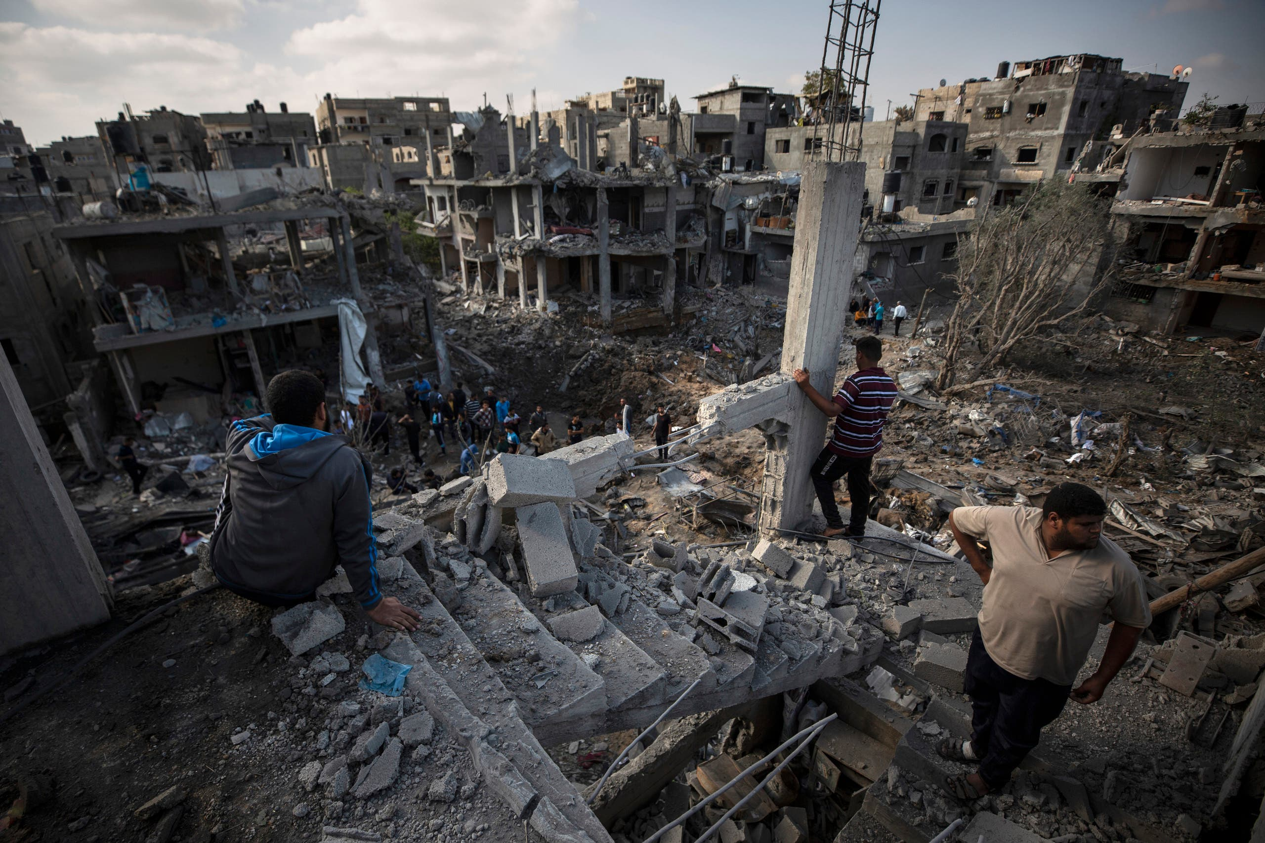 آثار القصف على غزة (أسوشييتد برس)