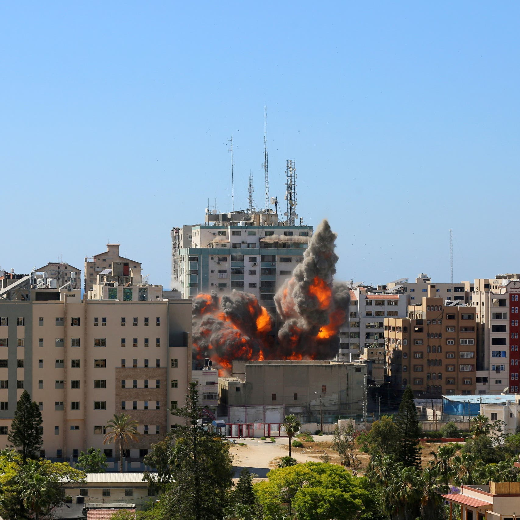 Watch: Israeli airstrike flattens building housing AP, other media offices in Gaza