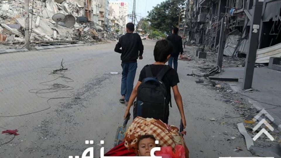 بعد القصف الإسرائيلي.. مئات العائلات مشردة بشوارع غزة