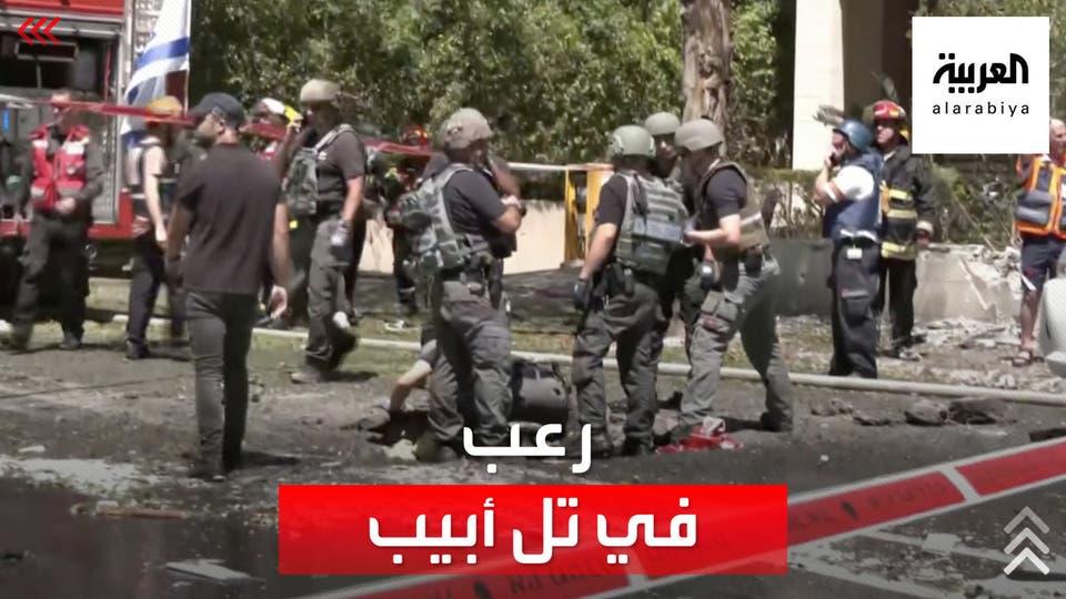 قصف كثيف ورعب في شوارع تل أبيب