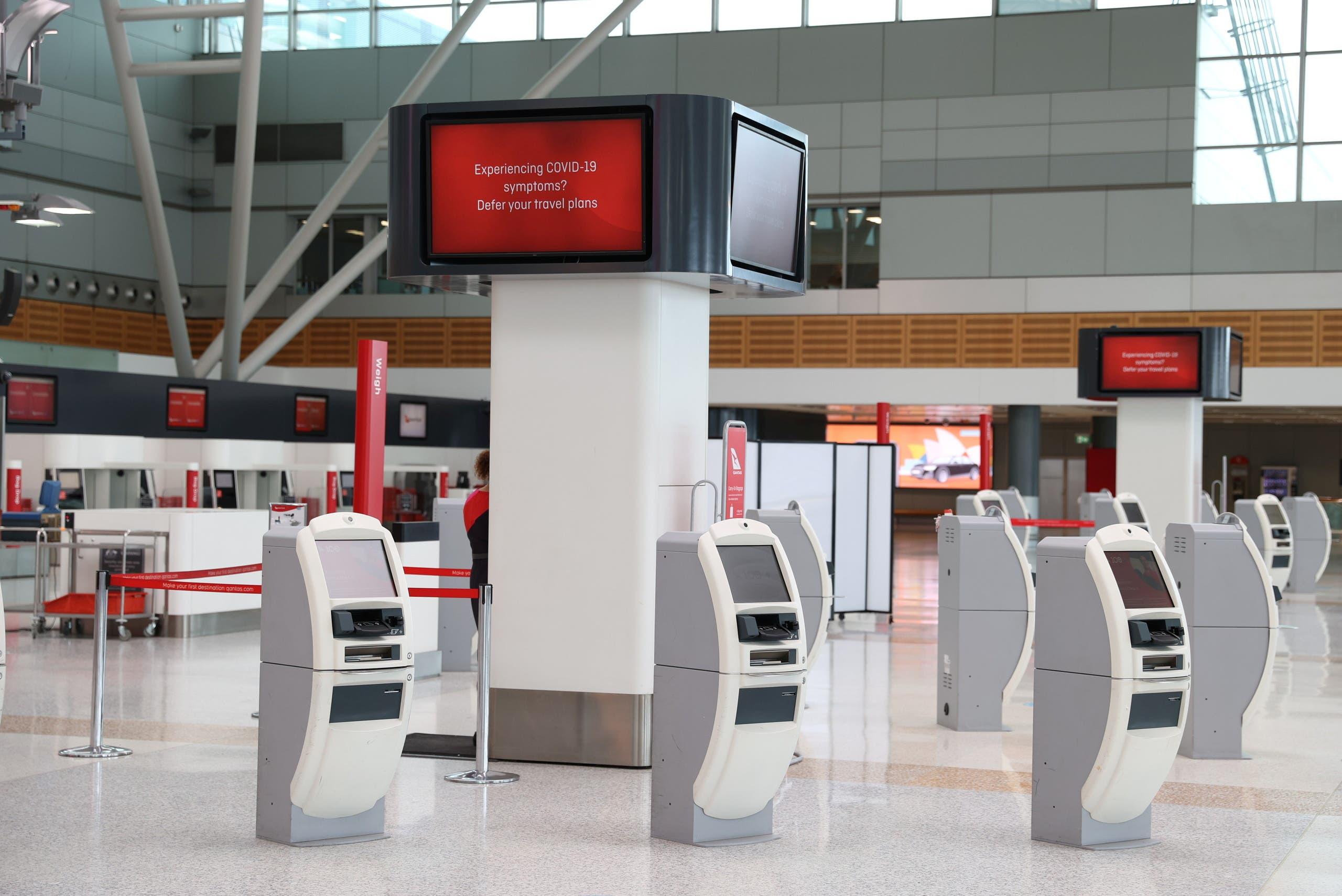 هدوء في مطار سيدني وسط غياب المسافرين