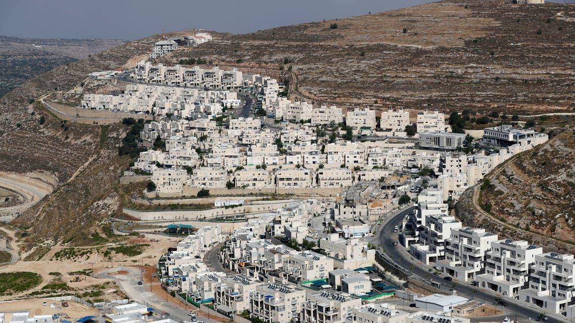 A view shows Israeli settlement buildings around Givat Zeev and Ramat Givat Zeev in the Israeli-occupied West Bank, near Jerusalem June 30, 2020. (Reuters)