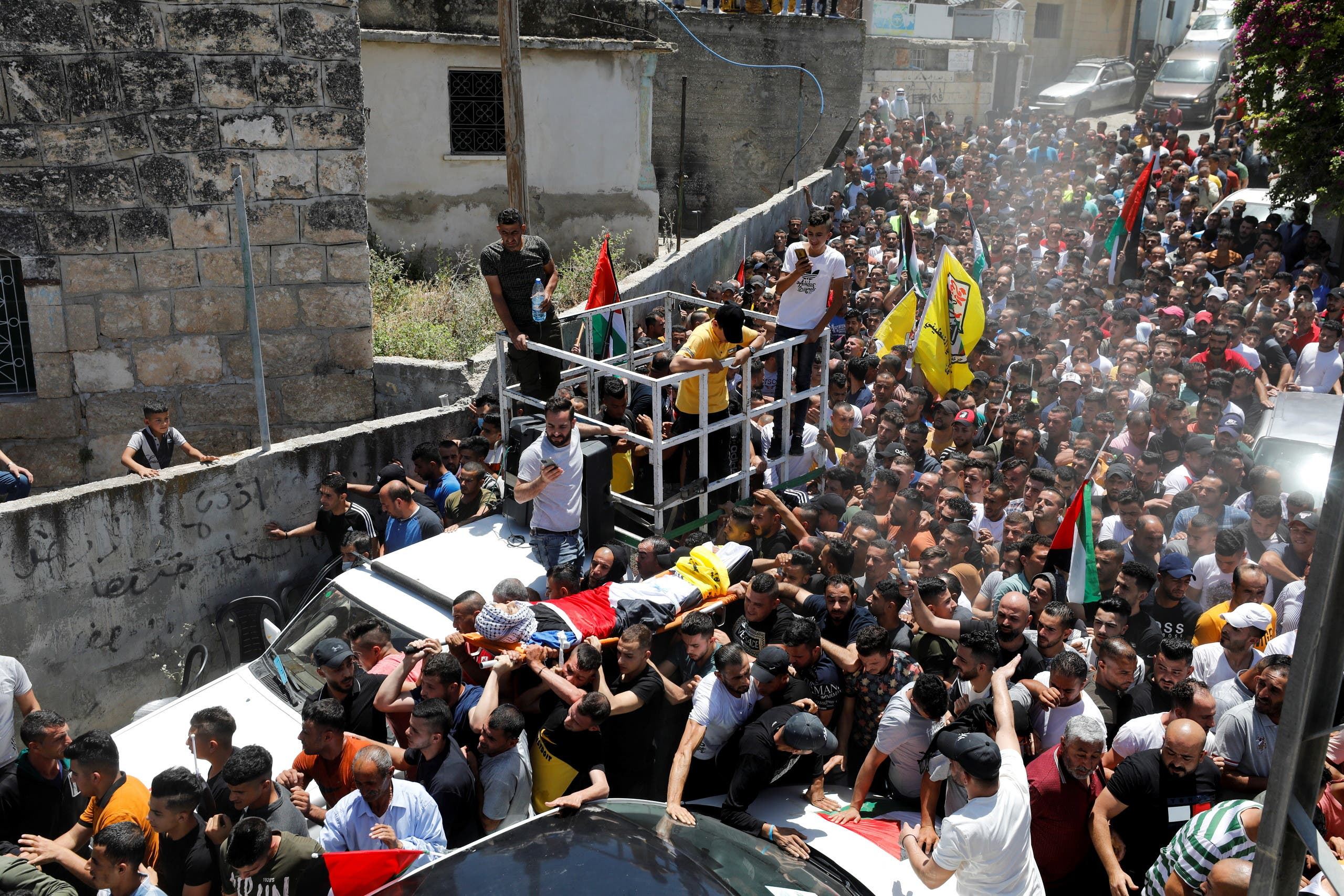 من تشييع قتلى أحداث الضفة الغربية