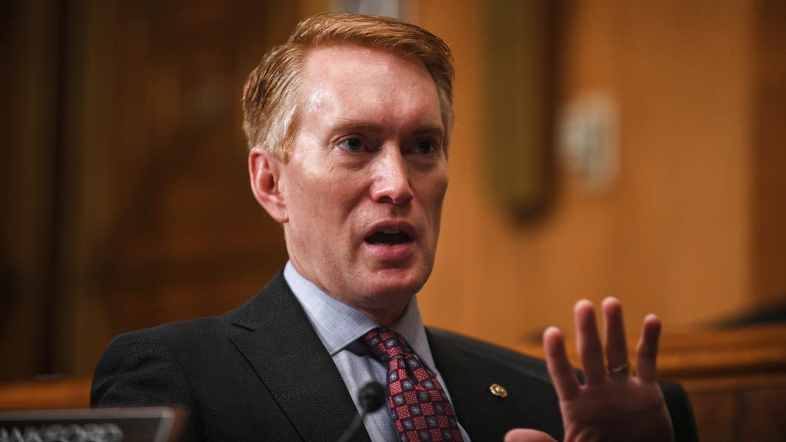 Senator James Lankford (Republican of Oklahoma) questions Deanne Bennett Criswell, nominee for administrator of the Federal Emergency Management Agency (FEMA) during her confirmation hearing before the Senate Committee on Homeland Security and Governmental Affairs on Capitol Hill, in Washington, D.C., U.S., March 25, 2021. Astrid Riecken/Pool via REUTERS