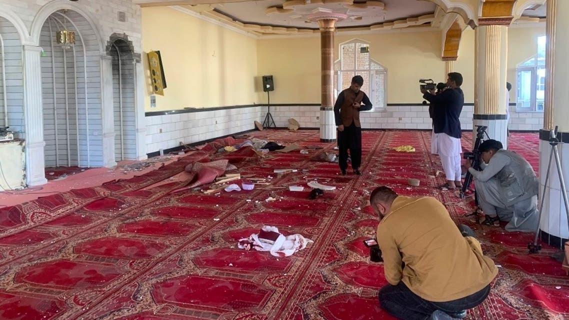 تصویر از انفجار در مسجدی در کابل 14 می 2021 همزمان با دومین روز آتشبس طالبان