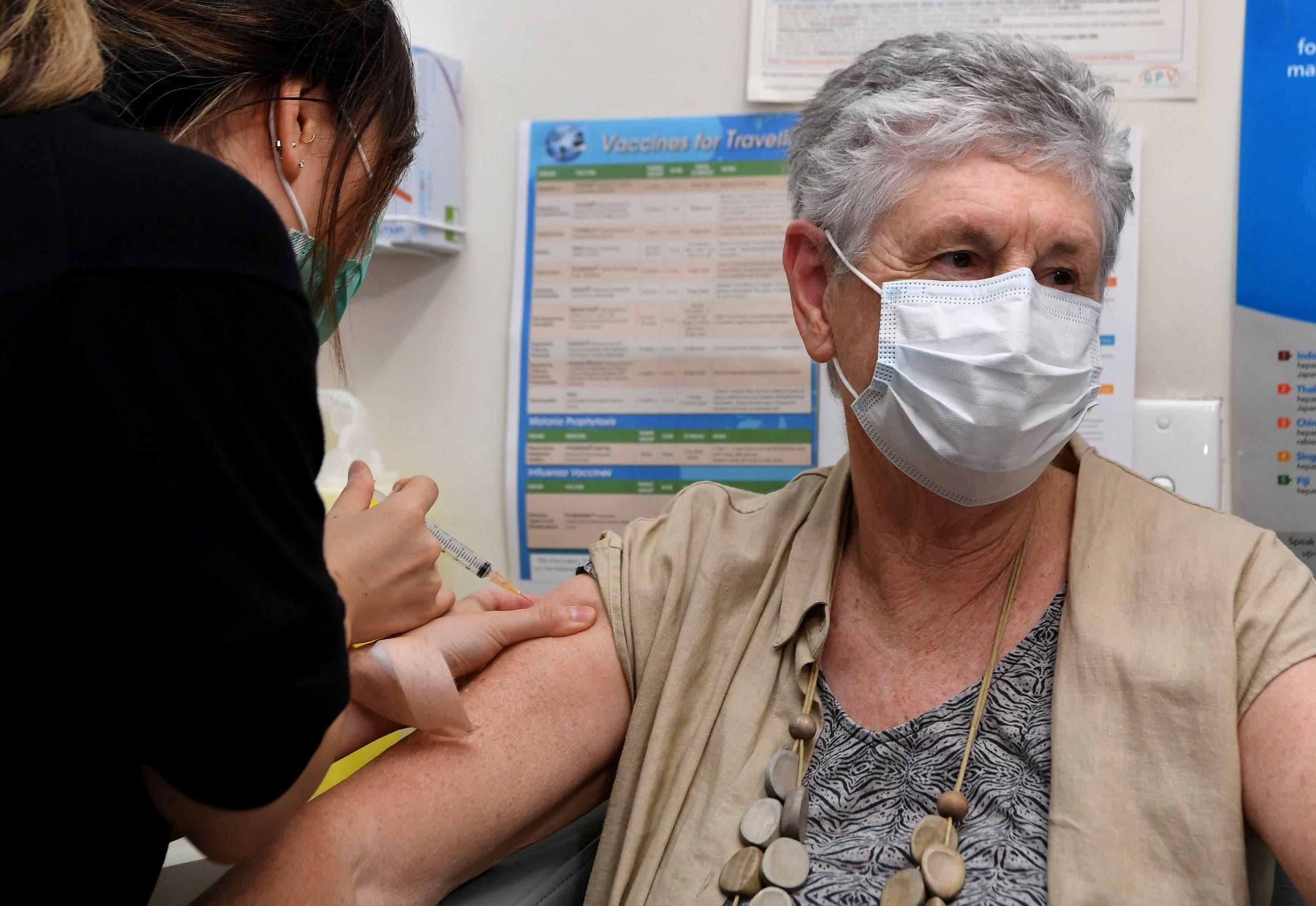 من حملة التطعيم ضد كورونا في ملبورن