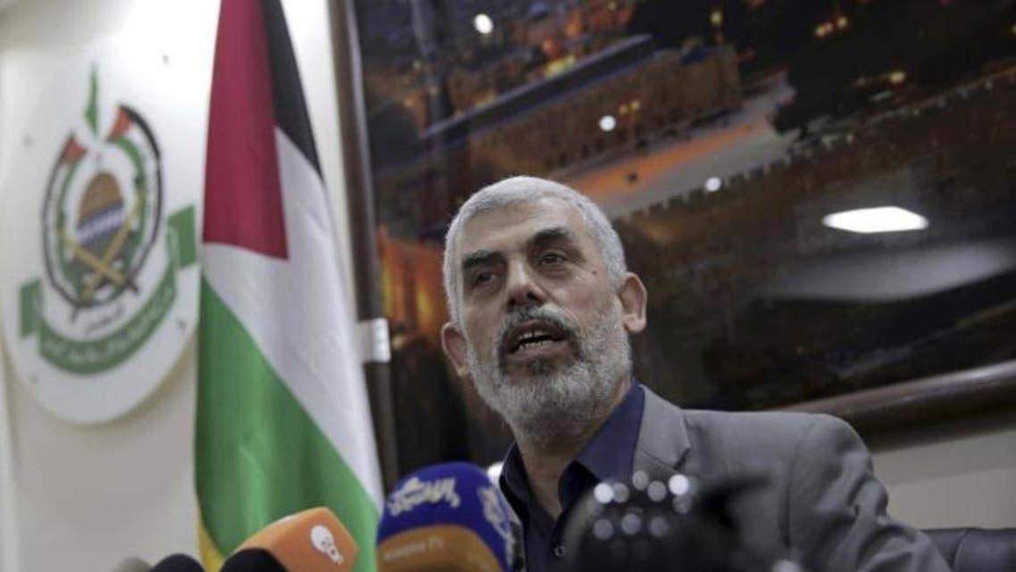 يحيى السنوار رئيس المكتب السياسي لحركة حماس في قطاع غزة (أ.ب)