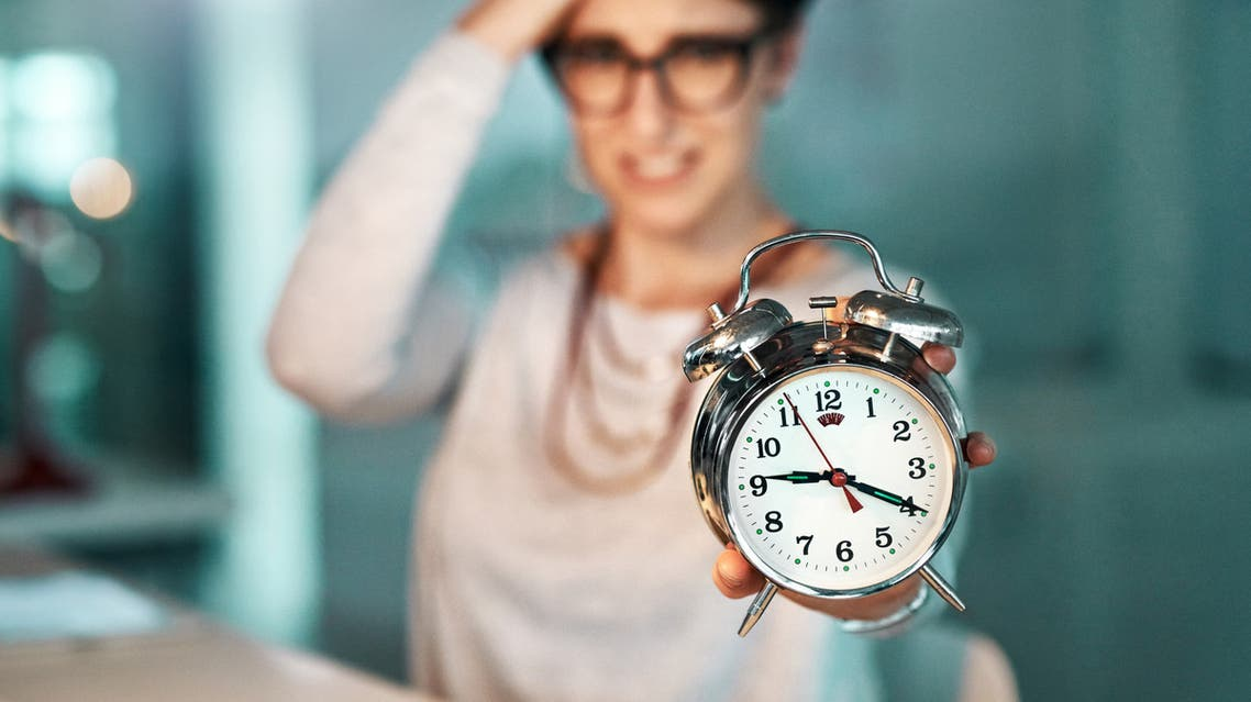 There's just not enough time to complete those looming deadlines stock photo