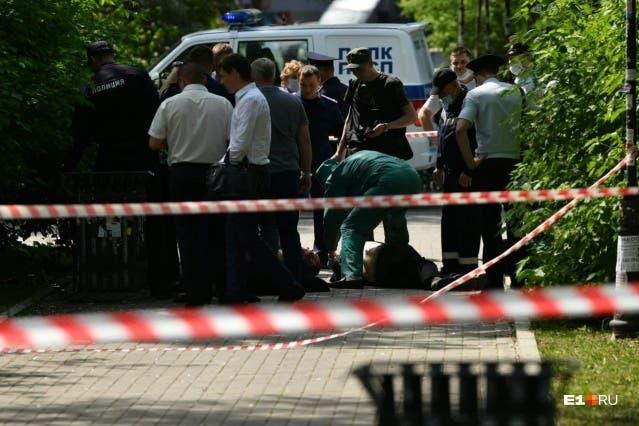 الشرطة في مكان الجريمة