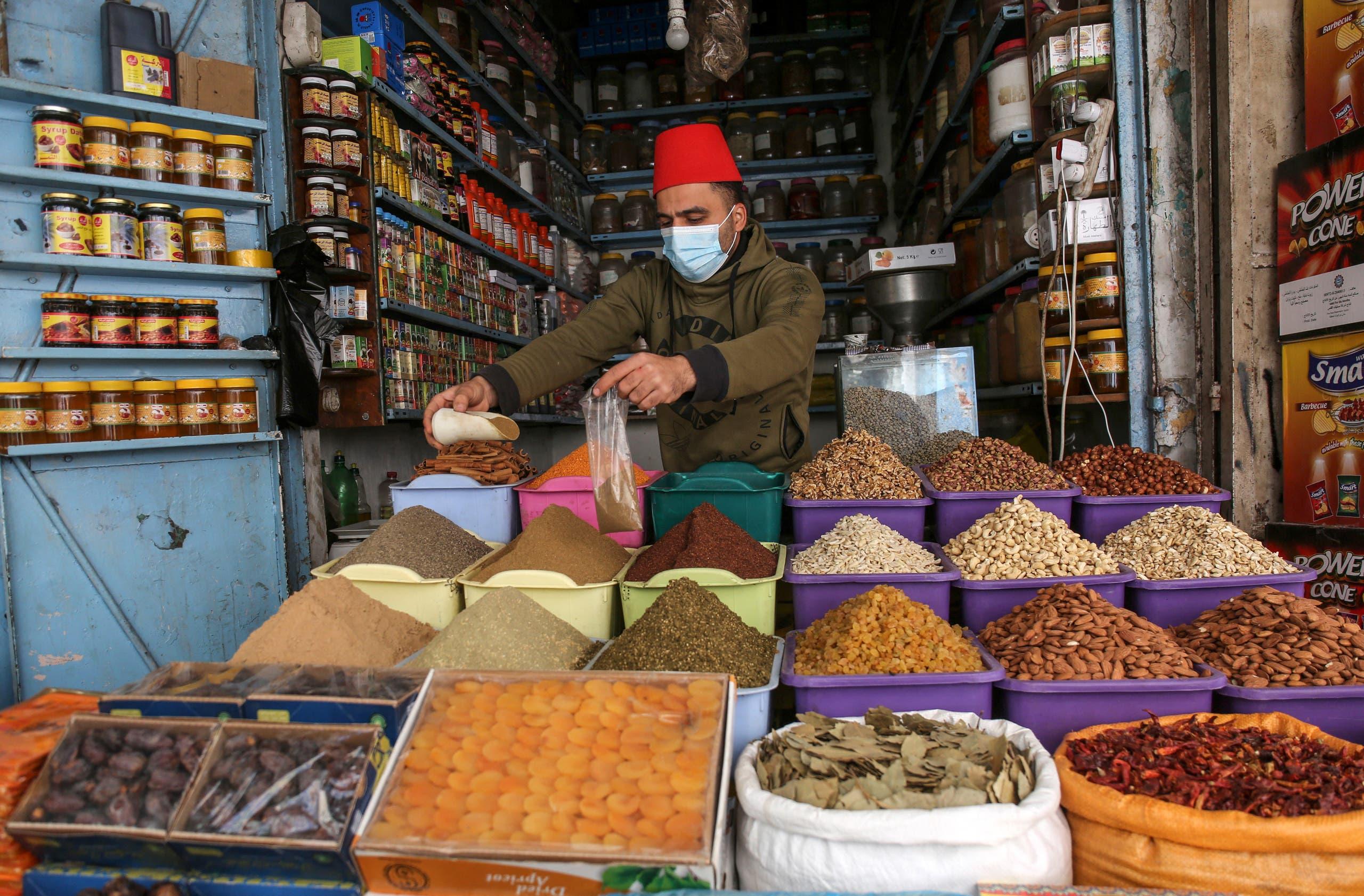 متجر أغذية في غزة (أرشيفية)