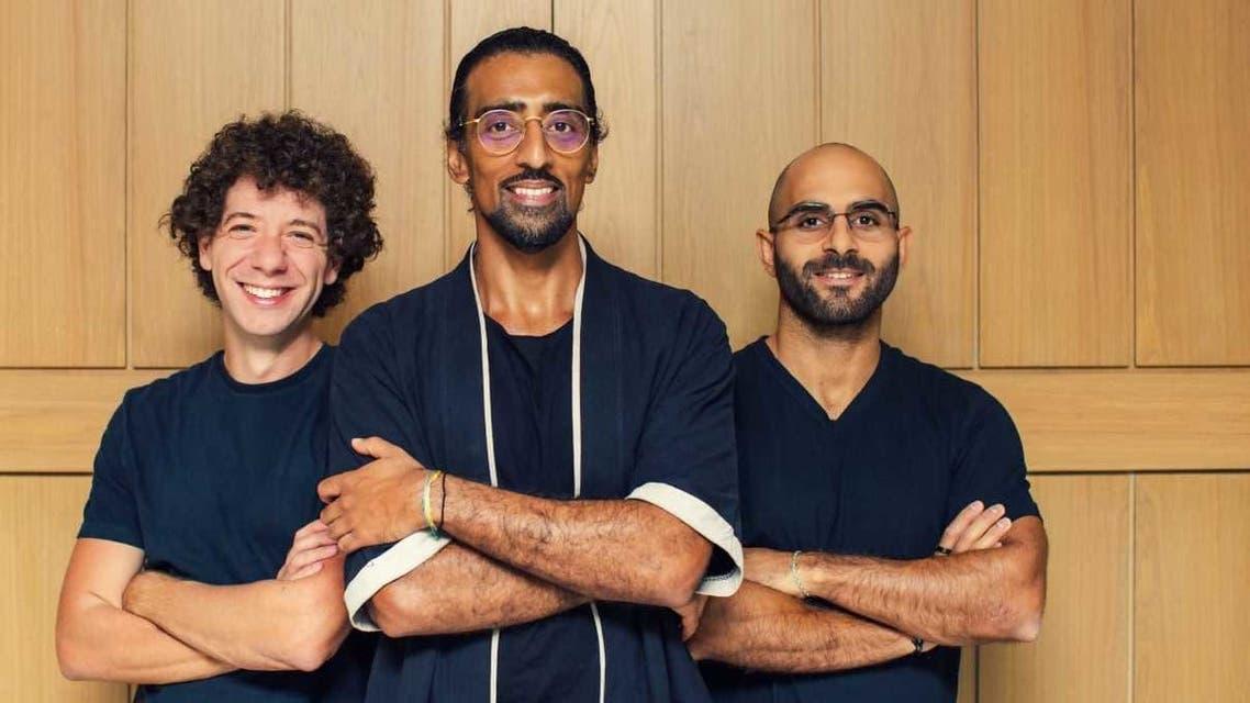 From left to right: Mohammad El Saadi, Asim Janjua, Imad Gharazeddine, cofounders of Mamo. (Supplied)