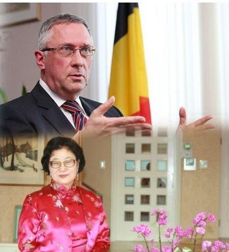 صورة متداولة للسفير وزوجته