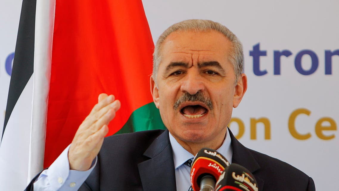 Palestinian PM Shtayyeh attends opening ceremony of a wastewater treatment plant in West Bank. (File photo: Reuters)