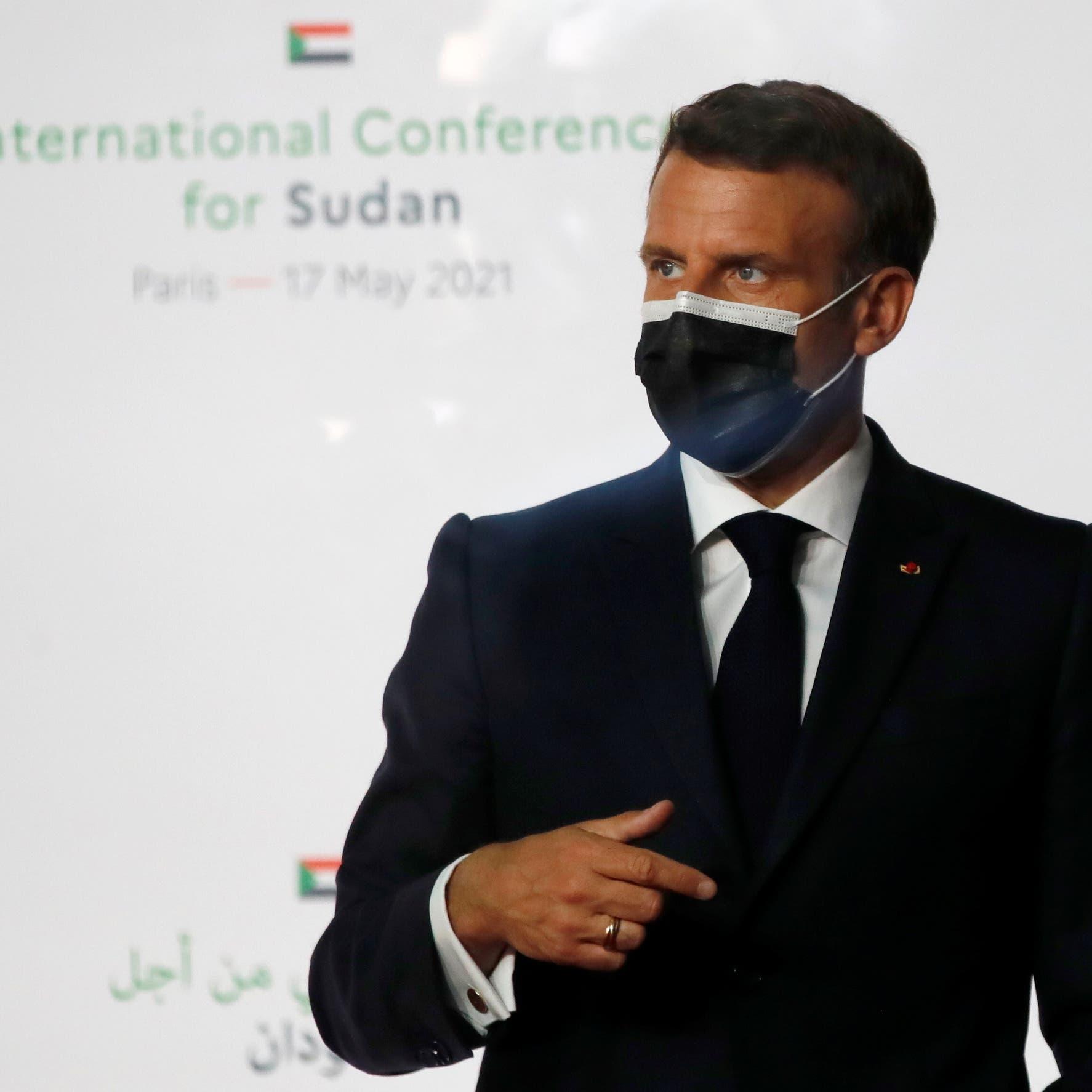ماكرون: المجتمع الدولي جاهز لمساعدة السودان