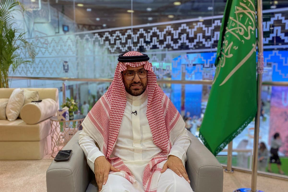 Fahd Hamidaddin, CEO of Saudi Tourism Authority, is seen during an interview with Reuters at the Arabian travel market exhibition in Dubai trade Center, in Dubai. (Reuters)