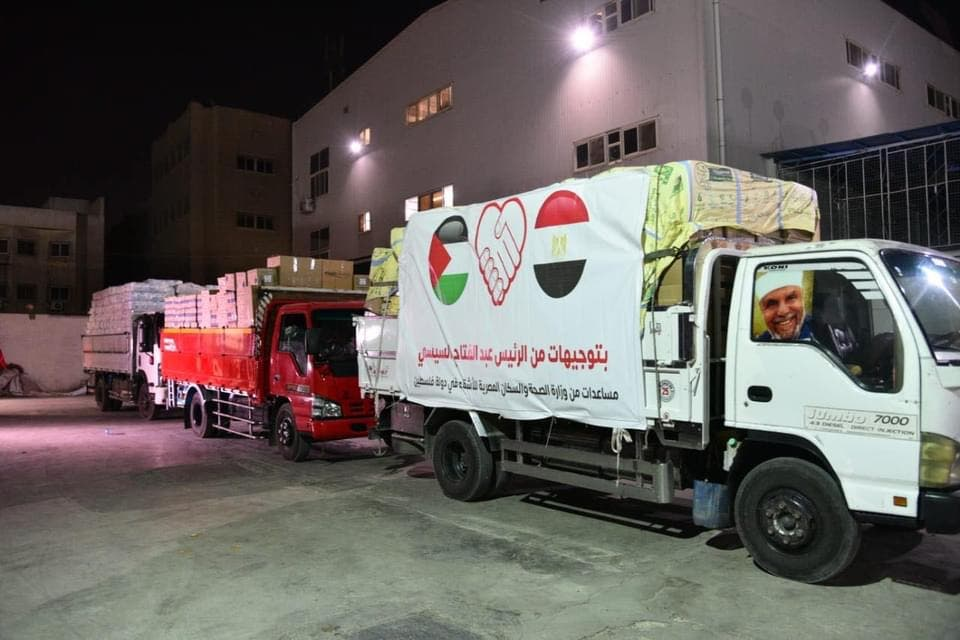 Egyptian medical aid for the wounded in Gaza