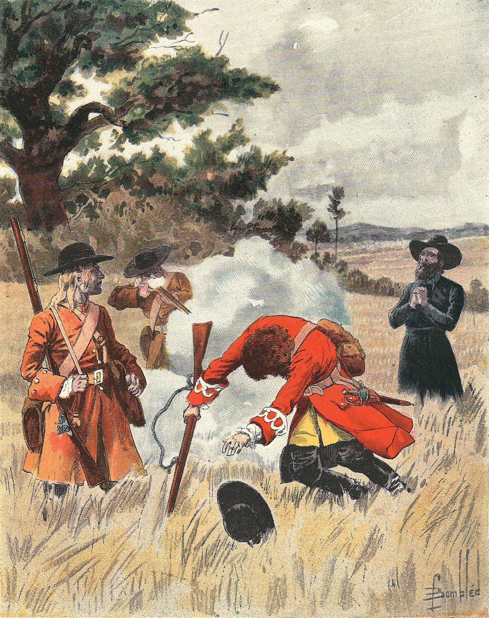 رسم تخيلي لعملية اعتيال دي لا سال