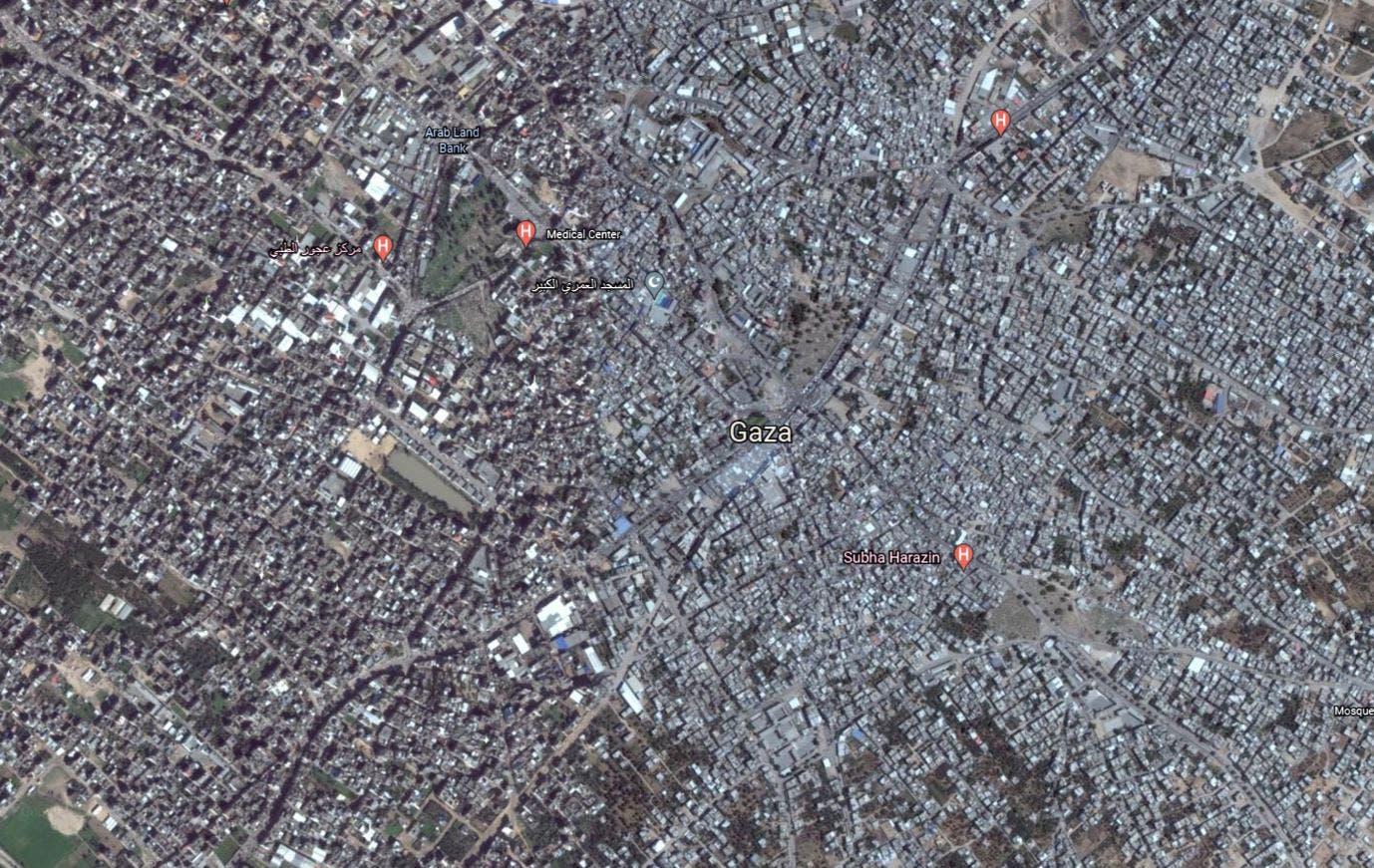 غزة (خرائط غوغل)