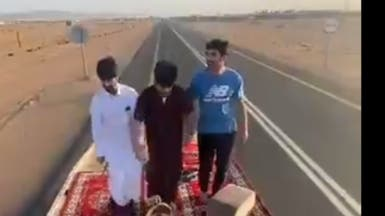 بعد فيديو الرقص على سطح شاحنة.. القبض على 6 سعوديين