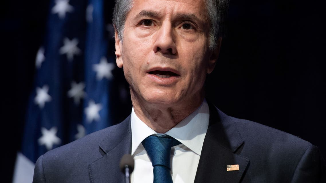 U.S. Secretary of State Antony Blinken speaks during a joint news conference following a meeting with Icelandic foreign minister at the Harpa Concert Hall in Reykjavik, Iceland, May 18, 2021. (Reuters)