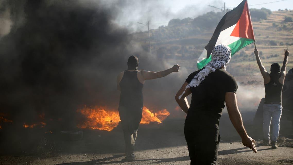 من تظاهرات نابلس - رويترز
