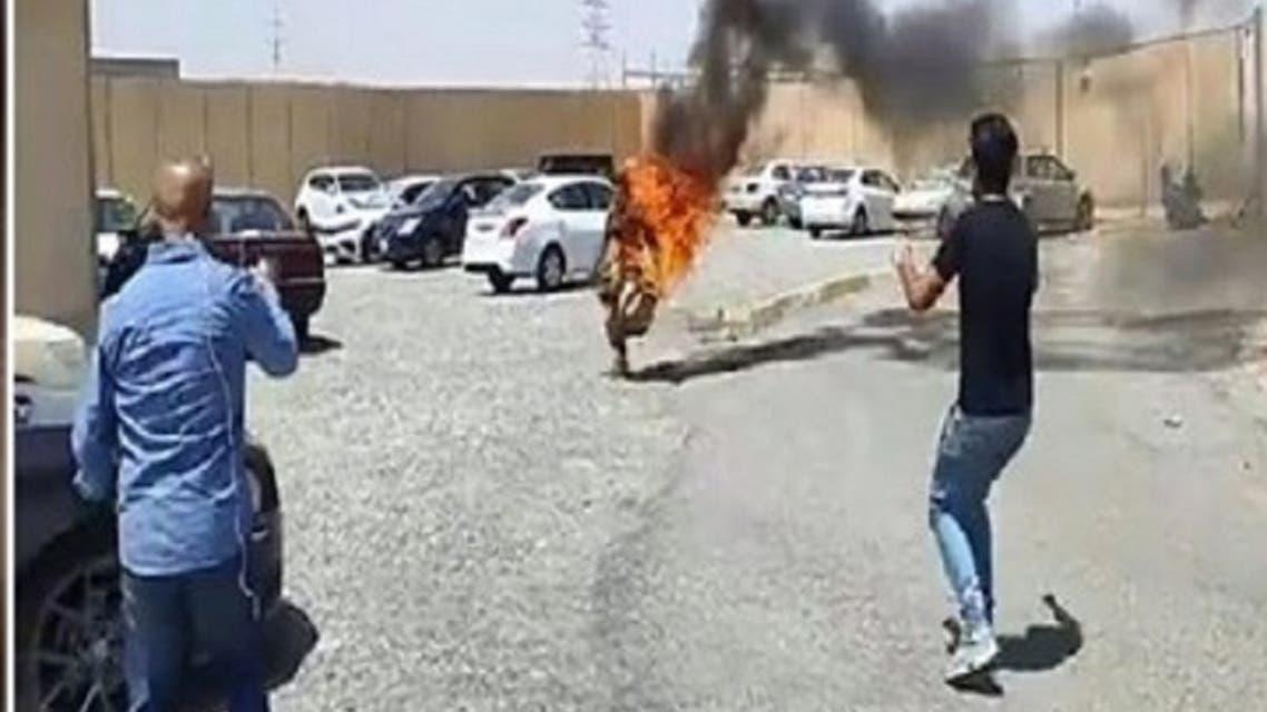 خودسوزی پناهجوی کُرد ایرانی در مقابل دفتر نمایندگی سازمان ملل در اقلیم کردستان