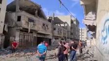 العربیہ ٹیم کا غزہ میں اسرائیلی بمباری کے شکار فلسطینی خاندان سے ملاقات
