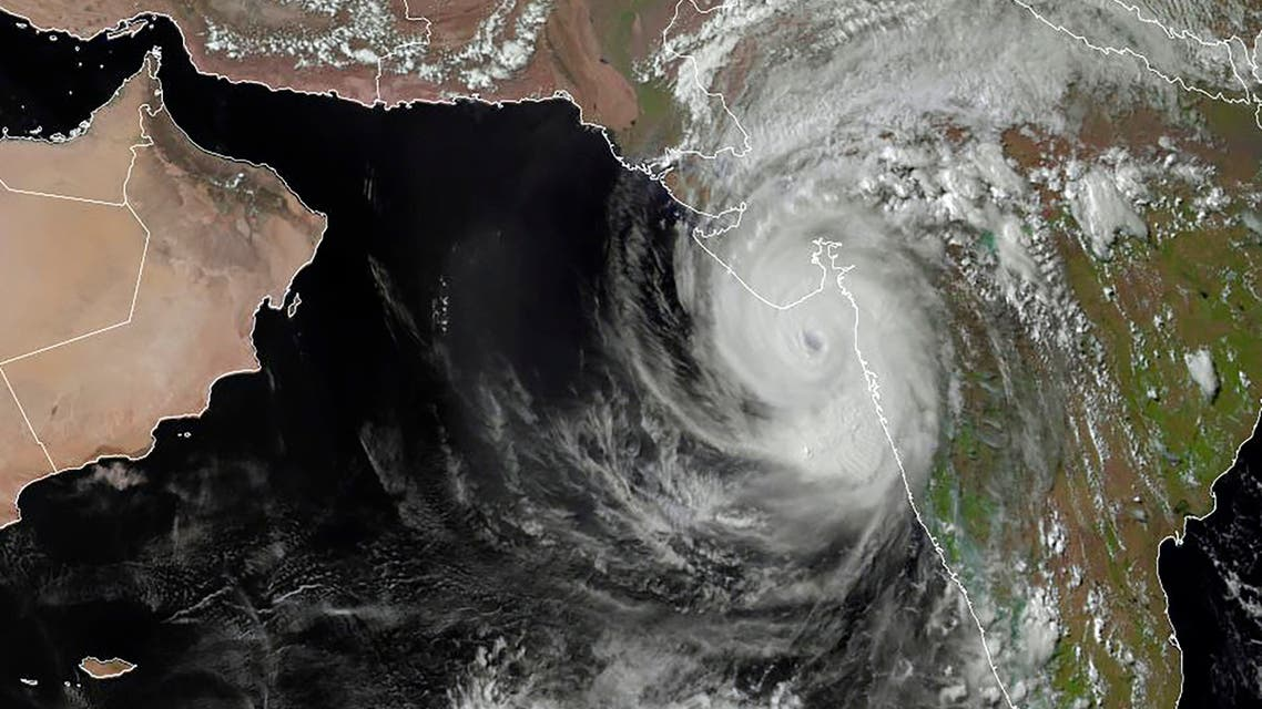 This RAMMB/CIRA handout satellite image shows Cyclone Tauktae off of western India on May 17, 2021 at 10:30 UTC. A major cyclone packing ferocious winds and threatening a destructive storm surge bore down on India on May 17, 2021, (File photo: AFP)