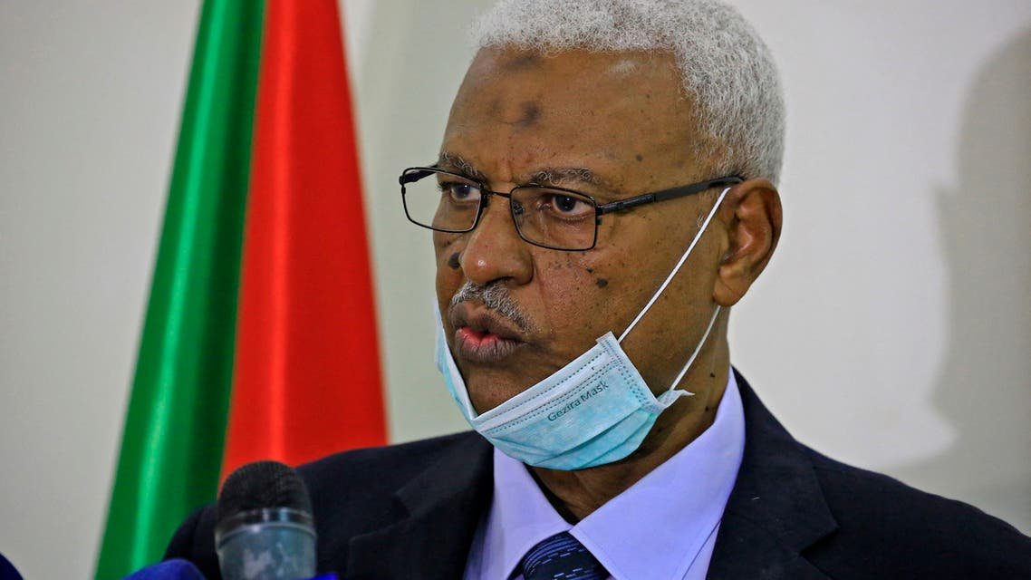 Tagelsir al-Hebr, Sudan's Attorney General, speaks during a press conference in the capital Khartoum on June 15, 2020. (File photo: AFP)