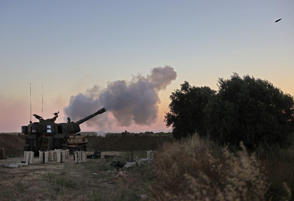من القصف الإسرائيلي على غزة (فرانس برس)