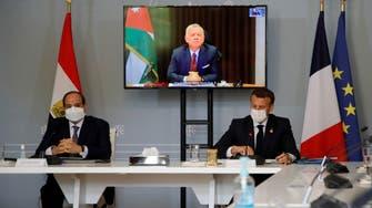 Macron, Egypt's Sisi, Jordan king hold talks on Israel-Gaza ceasefire: France